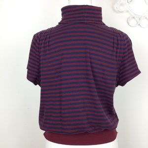 Anthropologie Pilco  M blue & red stripes sweater